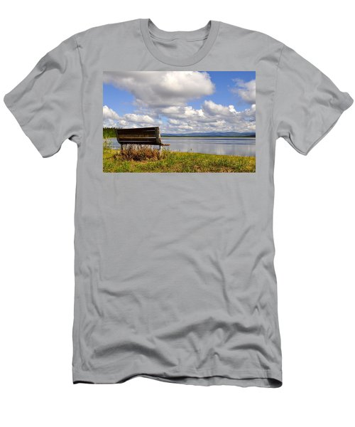 Men's T-Shirt (Slim Fit) featuring the photograph Quartz Lake by Cathy Mahnke