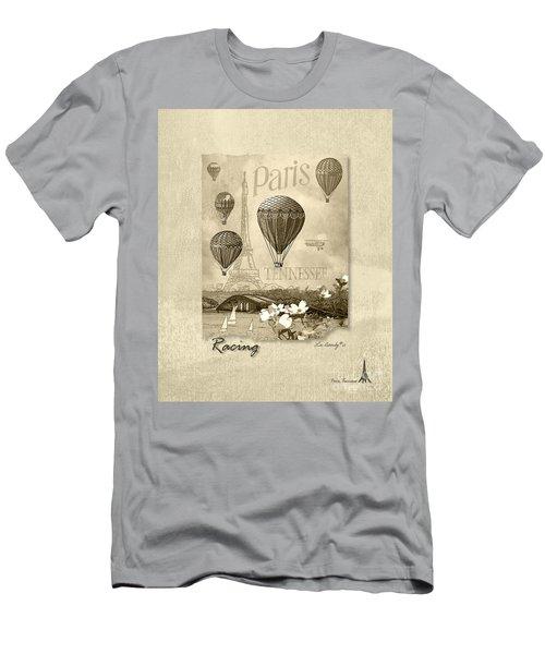 Racing In Sepia Men's T-Shirt (Athletic Fit)