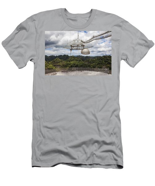 Men's T-Shirt (Athletic Fit) featuring the photograph Radio Telescope At Arecibo Observatory In Puerto Rico by Bryan Mullennix