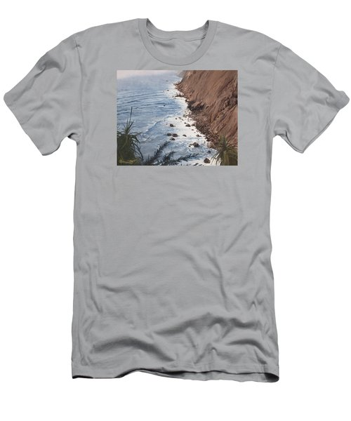 Ragged Point California Men's T-Shirt (Slim Fit) by Barbara Barber