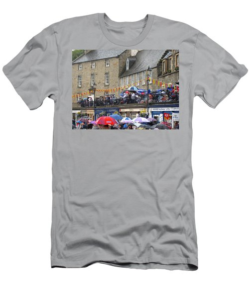 Men's T-Shirt (Slim Fit) featuring the photograph Rain On The Parade by Suzanne Oesterling