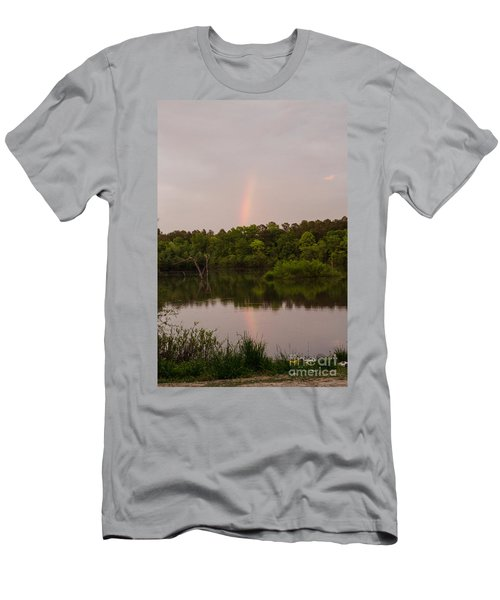 Rainbow At Sunset Men's T-Shirt (Athletic Fit)