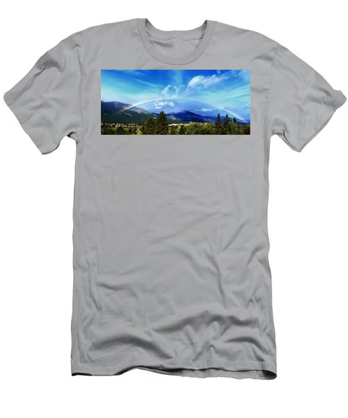 Rainbow Over Hamilton Montana Men's T-Shirt (Athletic Fit)