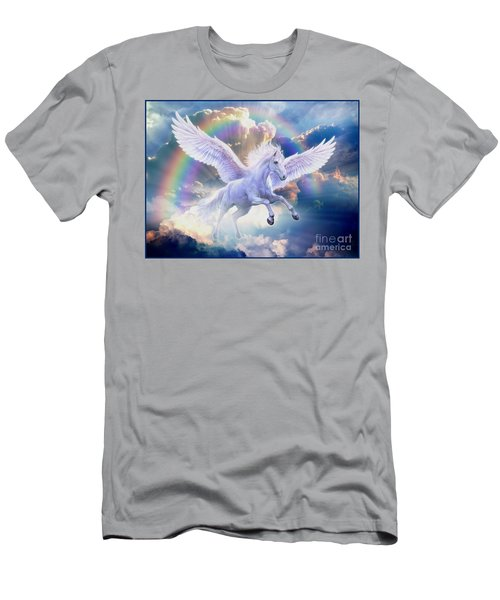 Rainbow Pegasus Men's T-Shirt (Athletic Fit)