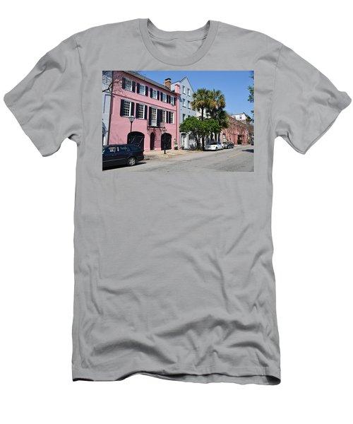 Rainbow Row  Men's T-Shirt (Athletic Fit)