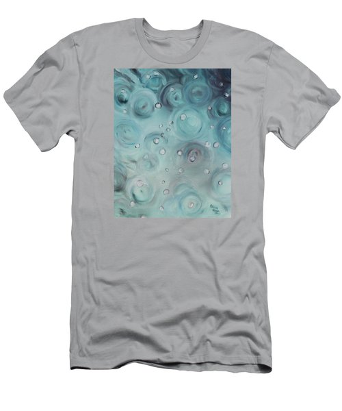 Raindrops Men's T-Shirt (Slim Fit) by Patricia Olson