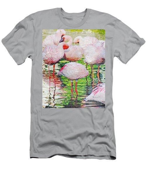 Rainy Day Flamingos 2 Men's T-Shirt (Athletic Fit)
