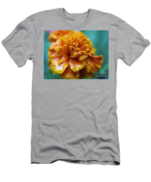 Rainy Marigolds Men's T-Shirt (Athletic Fit)