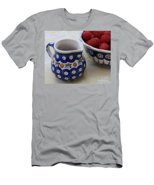 Raspberries With Cream Men's T-Shirt (Athletic Fit)