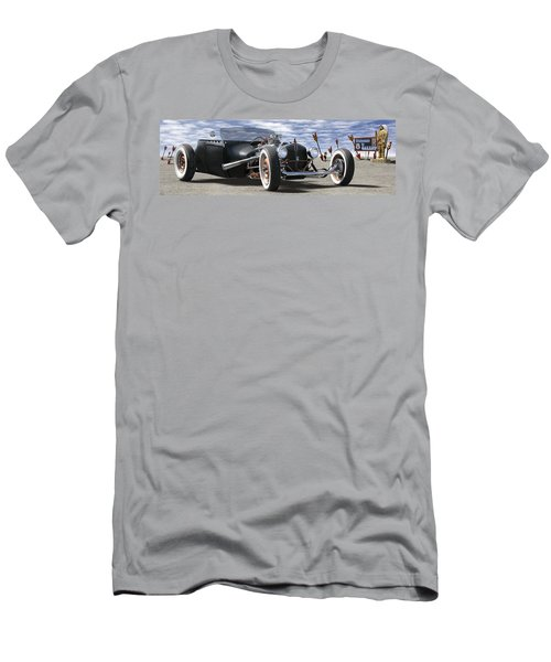 Rat Rod On Route 66 2 Panoramic Men's T-Shirt (Athletic Fit)