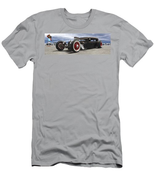 Rat Rod On Route 66 Panoramic Men's T-Shirt (Athletic Fit)