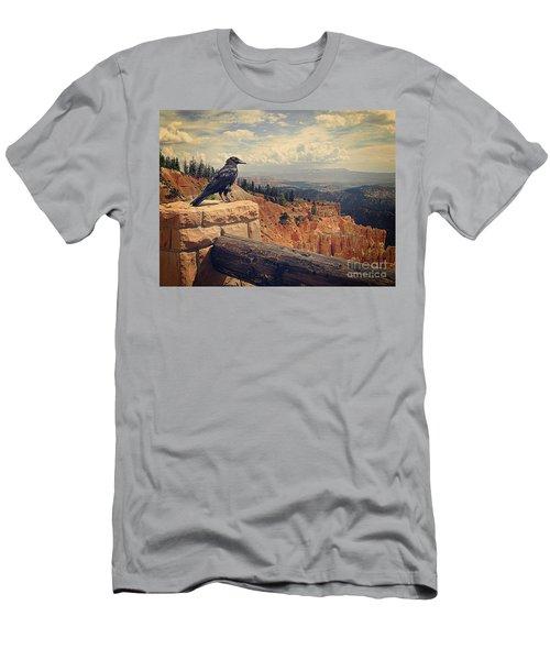 Raven's Eye View Men's T-Shirt (Slim Fit) by Meghan at FireBonnet Art