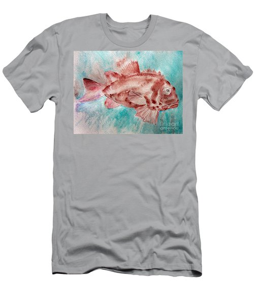 Red Fish Men's T-Shirt (Slim Fit) by Jasna Dragun