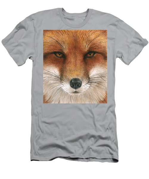 Red Fox Gaze Men's T-Shirt (Athletic Fit)