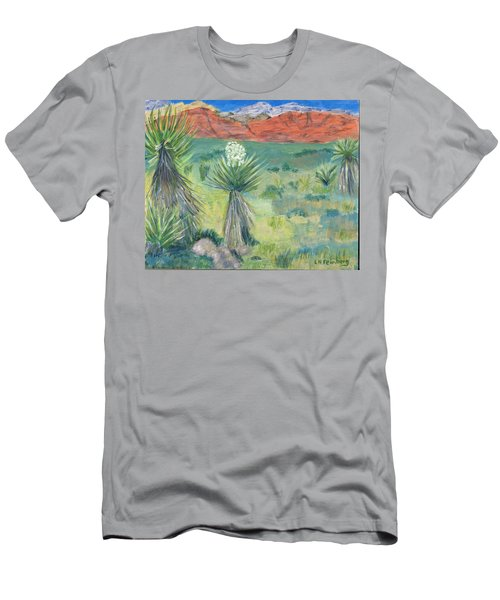 Red Rock Canyon With Yucca Men's T-Shirt (Athletic Fit)