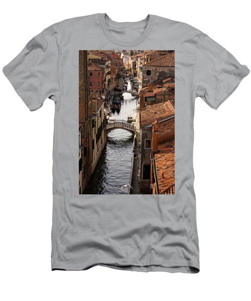 Red Roofs Of Venice Men's T-Shirt (Athletic Fit)