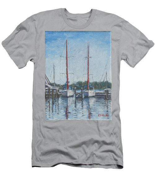 Red Sails Under Gray Sky Men's T-Shirt (Athletic Fit)