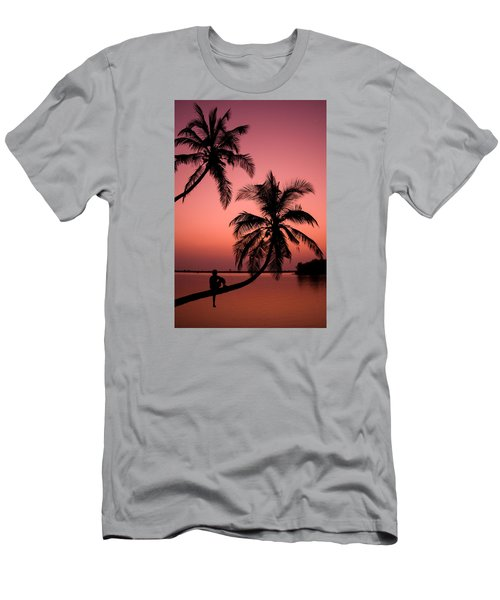Red Sunset In The Tropics Men's T-Shirt (Athletic Fit)