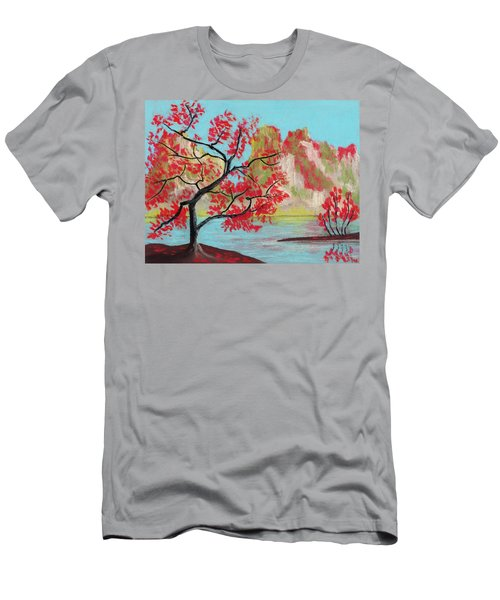 Red Trees Men's T-Shirt (Athletic Fit)
