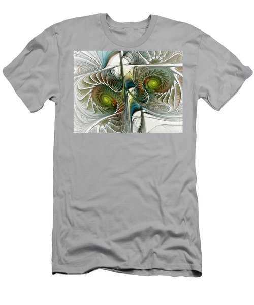 Reflected Spirals Fractal Art Men's T-Shirt (Athletic Fit)