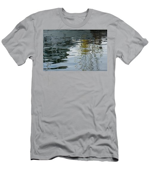Men's T-Shirt (Slim Fit) featuring the photograph Reflecting On Autumn Trees by Georgia Mizuleva