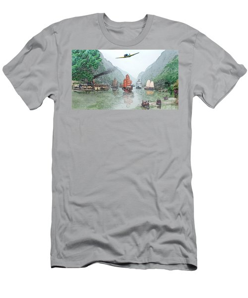 Refugees On The Yangtze Men's T-Shirt (Athletic Fit)