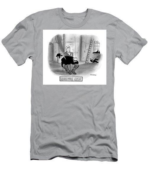 Reservoir Cats.  All The Mobsters Take Naps Men's T-Shirt (Athletic Fit)