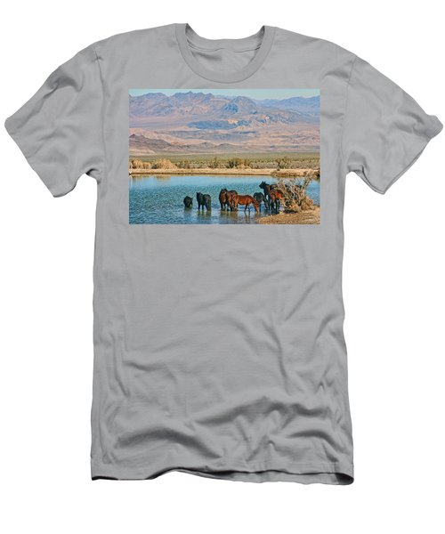 Rest Stop Men's T-Shirt (Slim Fit) by Tammy Espino