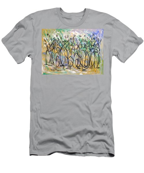 Revelation 1-7 Look He's Coming With The Clouds Men's T-Shirt (Athletic Fit)