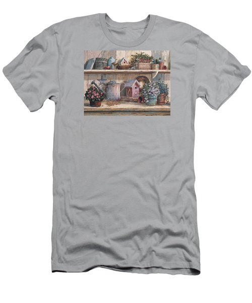 Rhapsody In Rose Men's T-Shirt (Slim Fit) by Michael Humphries