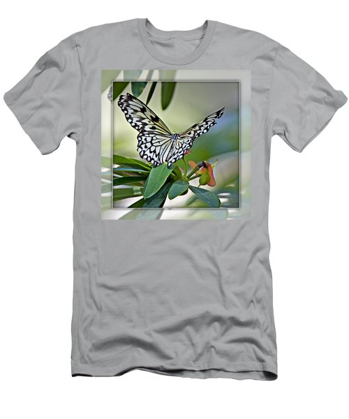Rice Paper Butterfly 2b Men's T-Shirt (Slim Fit) by Walter Herrit