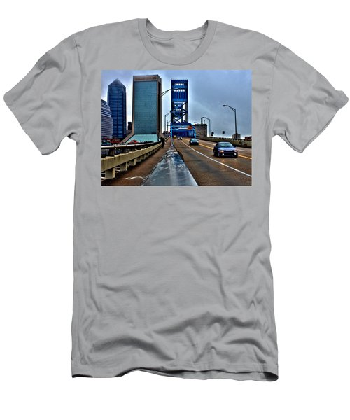 Men's T-Shirt (Athletic Fit) featuring the photograph Ride The Rail by Tyson Kinnison
