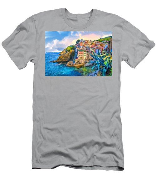 Riomaggiore Morning - Cinque Terre Men's T-Shirt (Athletic Fit)