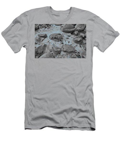 River Ice Blue Men's T-Shirt (Slim Fit) by Jeremy Rhoades