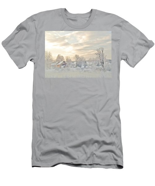 River Mist On A Very Cold New Hampshire Morning Men's T-Shirt (Athletic Fit)