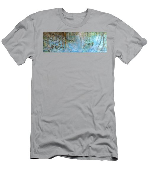 Men's T-Shirt (Slim Fit) featuring the painting River's Stories  by Delona Seserman
