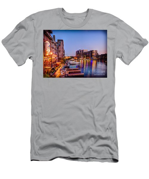 Riverwalk At Dusk Men's T-Shirt (Athletic Fit)