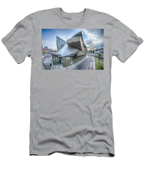 Roanoke Virginia City Skyline In The Mountain Valley Of Appalach Men's T-Shirt (Athletic Fit)