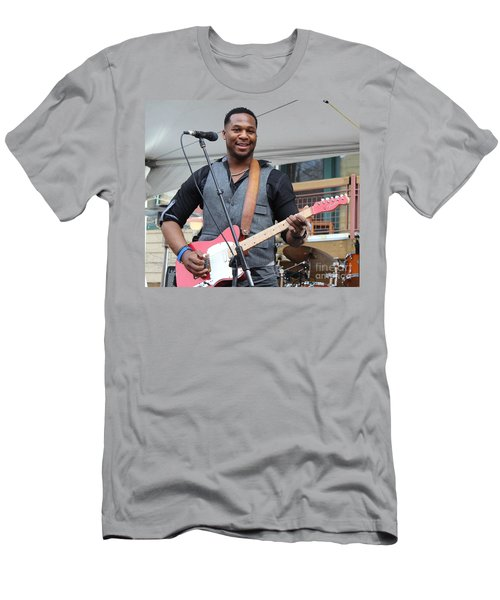 Robert Randolph  Men's T-Shirt (Slim Fit) by Fiona Kennard