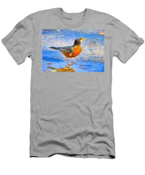 Robin In Florida Men's T-Shirt (Athletic Fit)