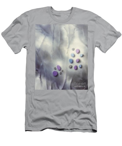 Rock Painting Lavender And Gray With Twigs Men's T-Shirt (Athletic Fit)