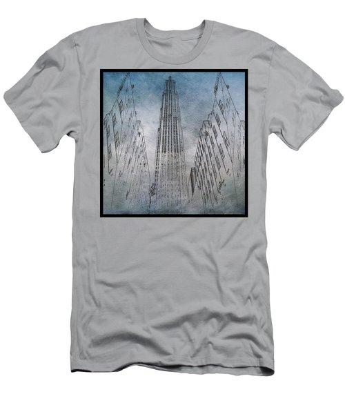 Ge Building Facade Sketch Men's T-Shirt (Athletic Fit)