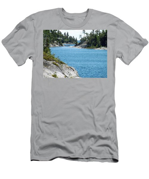 Rocks And Water Paradise Men's T-Shirt (Slim Fit) by Brenda Brown