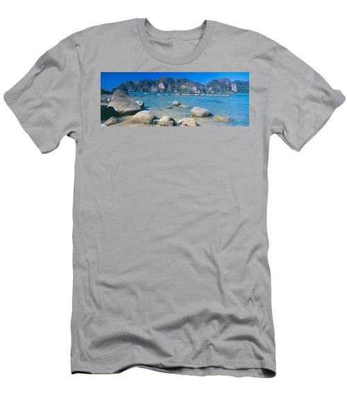 Rocks On The Coast, Phi Phi Islands Men's T-Shirt (Athletic Fit)