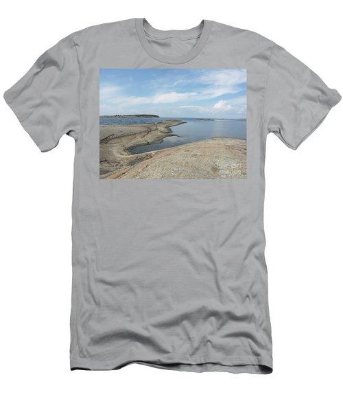 Rocky Coastline In Hamina Men's T-Shirt (Athletic Fit)