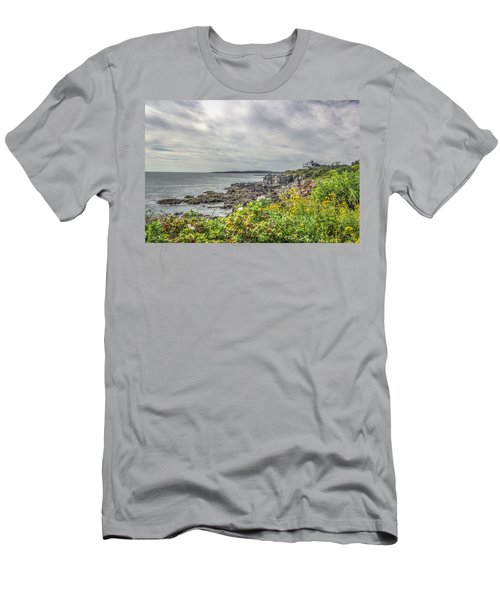 Men's T-Shirt (Slim Fit) featuring the photograph Rocky Maine Shoreline by Jane Luxton