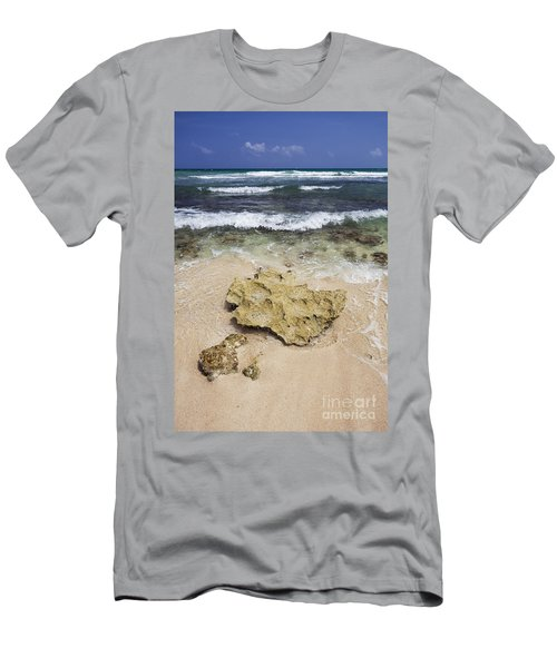 Rocky Shoreline In Tulum Men's T-Shirt (Athletic Fit)
