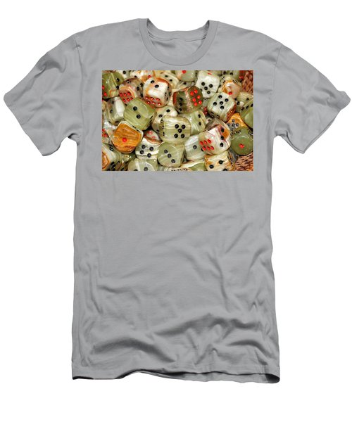 Roll The Dice Men's T-Shirt (Slim Fit) by Jean Goodwin Brooks