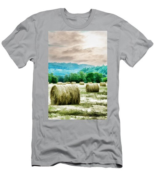 Rolled Bales Men's T-Shirt (Athletic Fit)