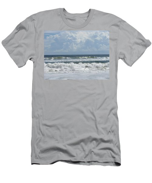 Rolling Clouds And Waves Men's T-Shirt (Slim Fit) by Ellen Meakin